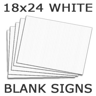 blank yellow signs 18x24