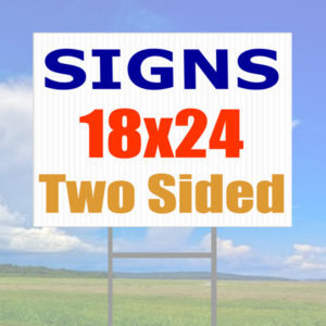 sign on h-wires two sided
