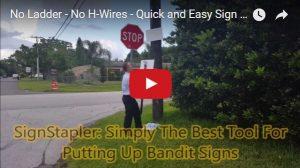 Sign Stapler video image